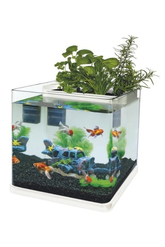 Akvárium Superfish AQUAPONICS 23 bílé