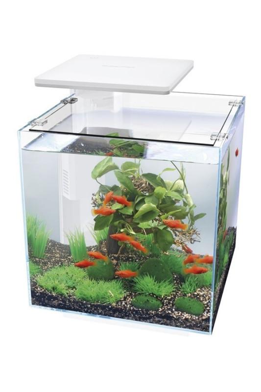 Akvárium Superfish Qubiq 30 bílé