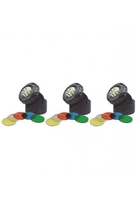 Led lamp 3 x 1,6 Watt + color disks