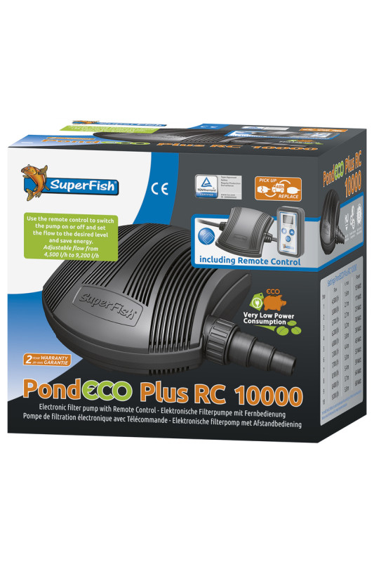 Superfish Pond Eco Plus RC 10000 - 13-68W s dálkovým