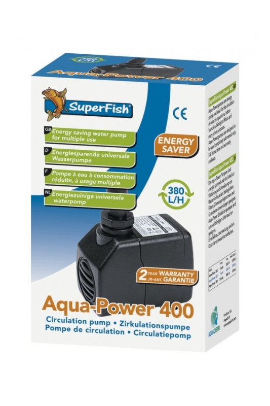 SuperFish AQUA SF AQUAPOWER 400 - 380 L/H 7W