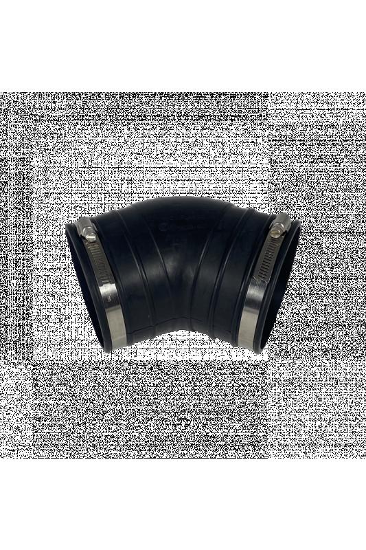 Pružný gumový ohyb (45 °) 110 mm