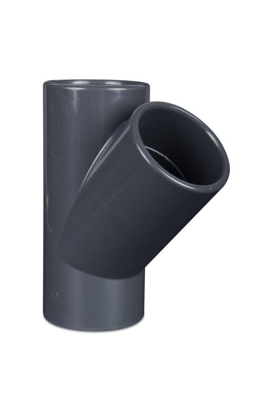 PVC  T-kus 45° 75mm