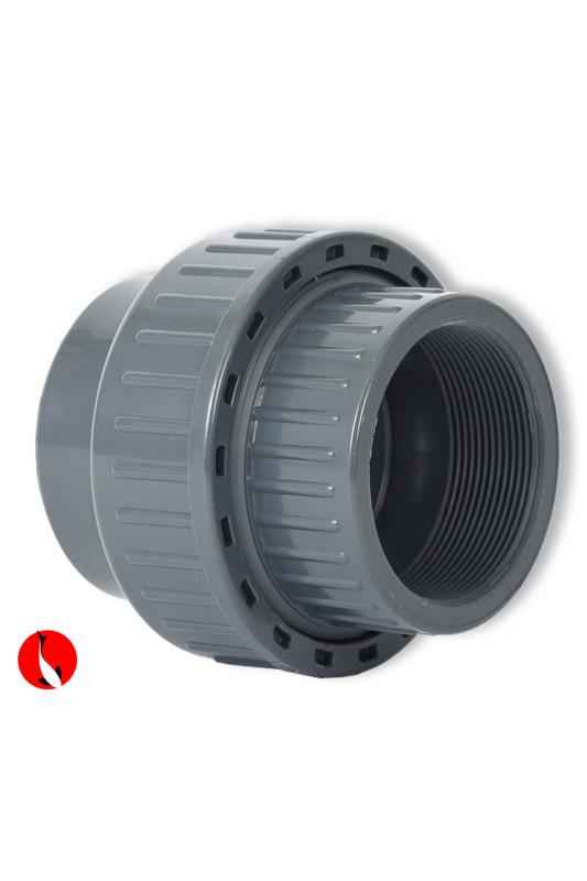 PVC spojka s vnitřním závitem a těsněním 90 mm x 3