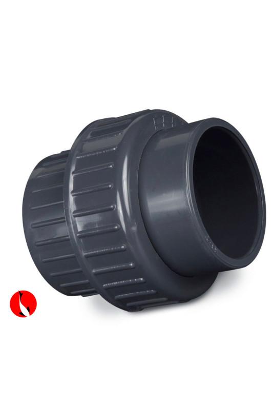 PVC Šroubovací spojka s těsněním 50mm