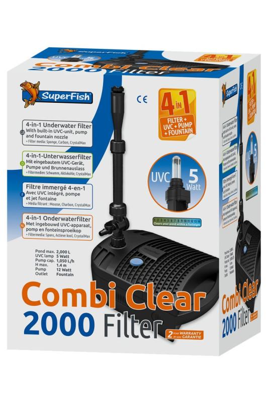 Superfish Combi Clear 2000 4-v-1 rybníkový filtr UVC
