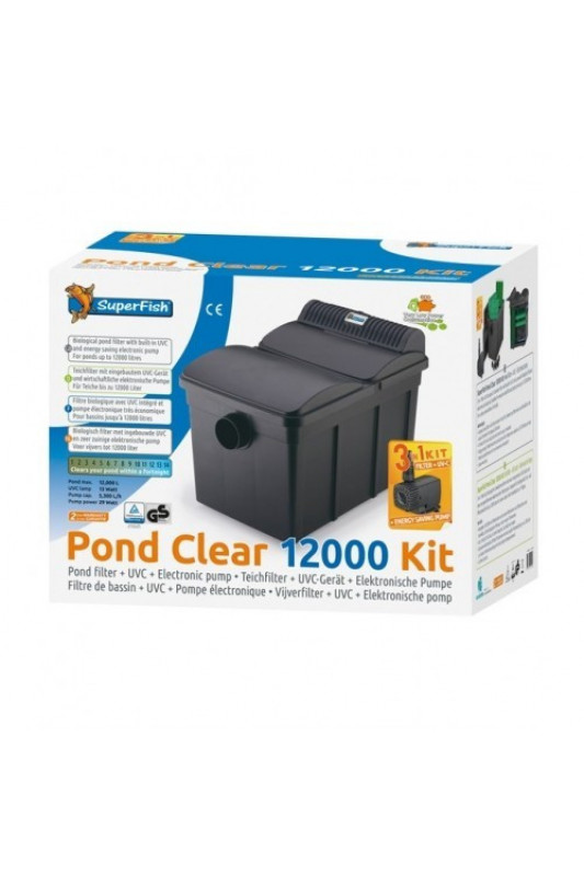 SuperFish Pond Clear Kit 12000 UVC-130W 3v1