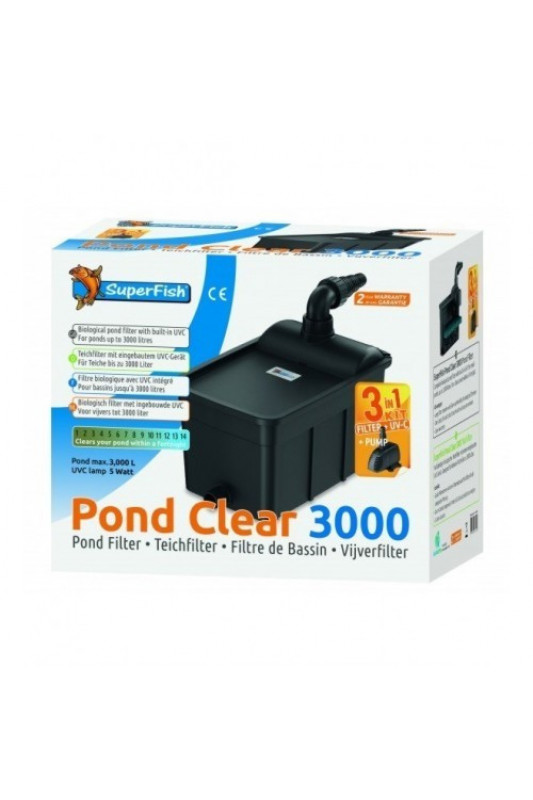 SuperFish Pond Clear Kit 3000 - UVC-5W - 3v1